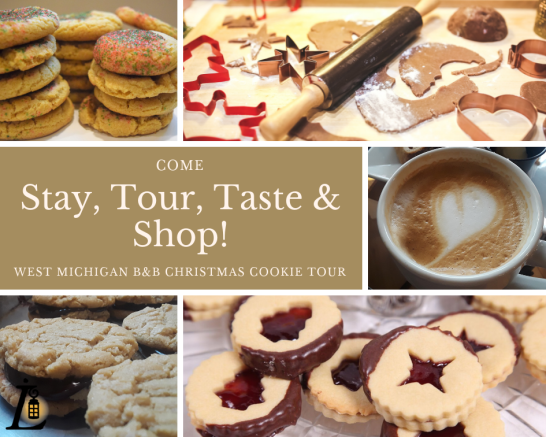 Enjoy sampling freshly baked Holiday cookies on the West Michigan B&B Christmas Cookie Tour!